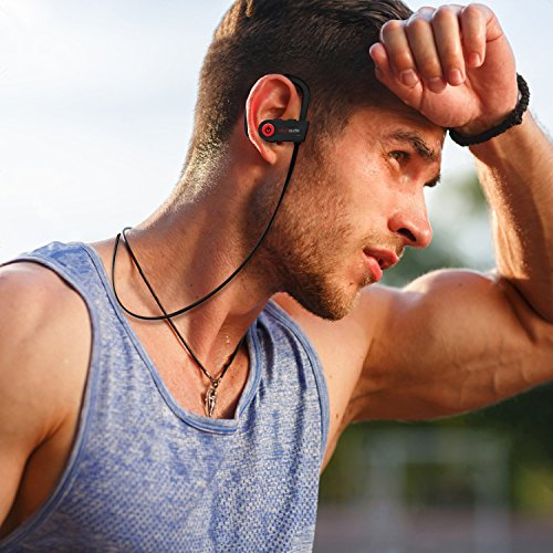 Large Product Image of Otium Wireless Headphones, Bluetooth Headphones, Otium Best Sports Earphones, IPX7 Waterproof Stereo Earbuds for Gym Running 9 Hours Playtime Noise Cancelling Headsets