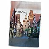 3dRose Florene Germany - Quaint Rothenburg Germany - 12x18 Towel (twl_80866_1)