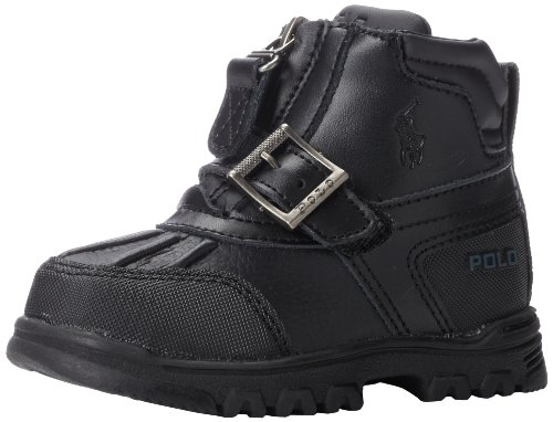 Polo Ralph Lauren Kids Country Mid Zip Boot ,Black Tumbled/B