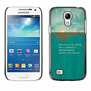 [Neutron-Star] Snap-on Series Teléfono Carcasa Funda Case Caso para Samsung Galaxy S4 Mini i9190 (NOT S4) [Teal Sun Cita hermoso poema Naturaleza]