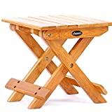 Small Portable Bamboo Foldable Fishing Stool Bench Shower Outdoor Chair Seat