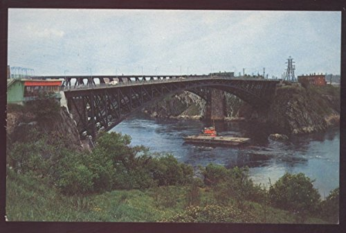Slack Water Bridge Reversing Falls New Brunswick Canada St John Postcard (Slacks Slacks New Fall)