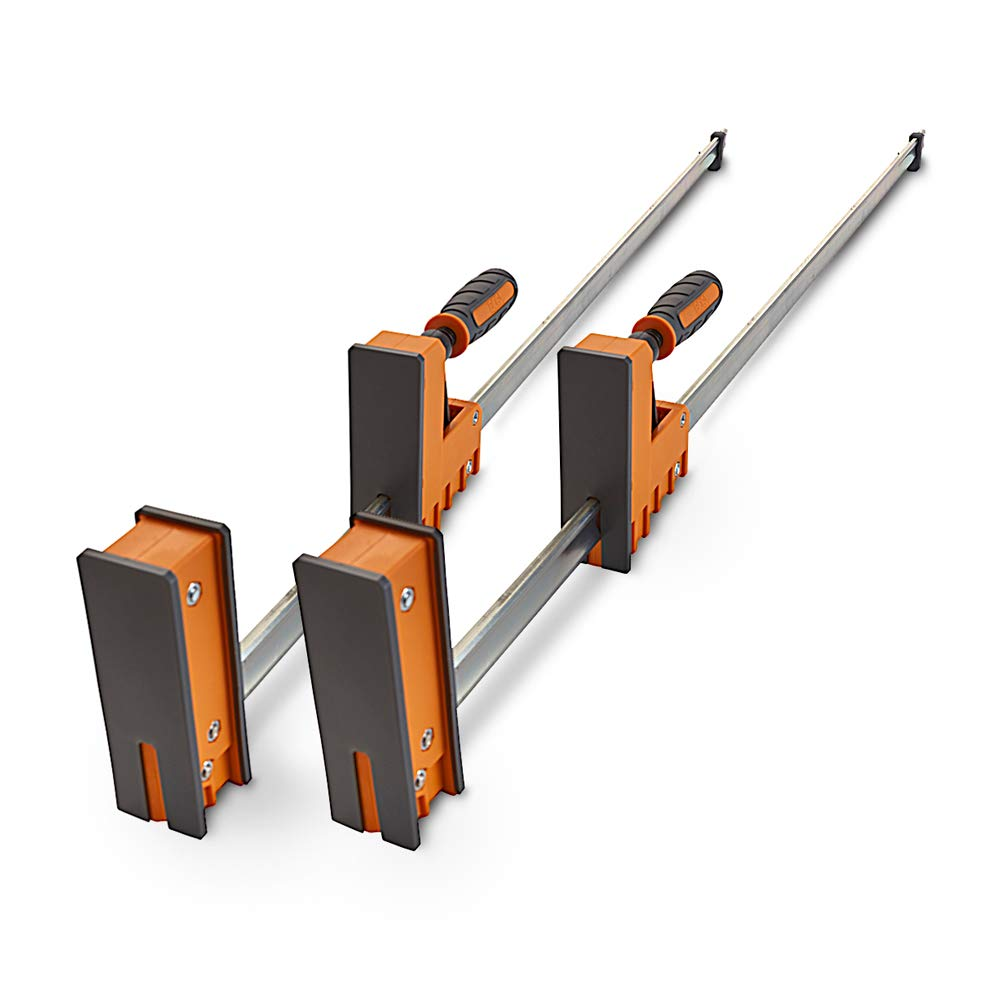 2 Pack of Woodworking Clamps with Rock-Solid BORA 24 Parallel Clamp Set 571124T Even Pressure