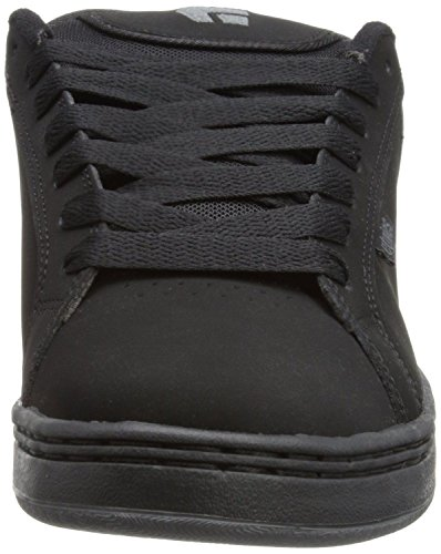 Etnies Fader Black Grey Mens Suede Skate Trainers Shoes Boots