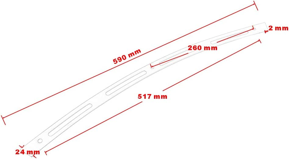 4-slotted Stainless Steel Motorcycle Windshield Trim for Electra Glides//Street Glides//Tri Glide 1996-2013 Chrome Chrome