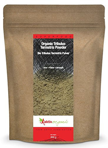 Aktiv Organic Tribulus Terrestris Powder, 200g, Certified Organic