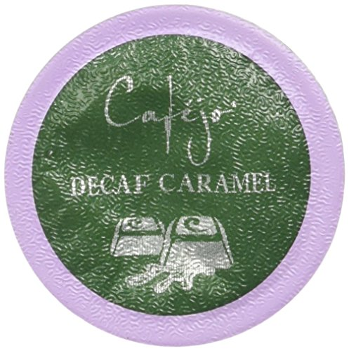 Cafejo K-Cups, Decaf Caramel Creme Coffee, 50 Count