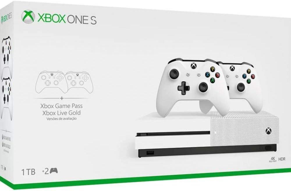 Console Xbox One S - 1 TB e 2 Controles - Xbox One por Microsoft