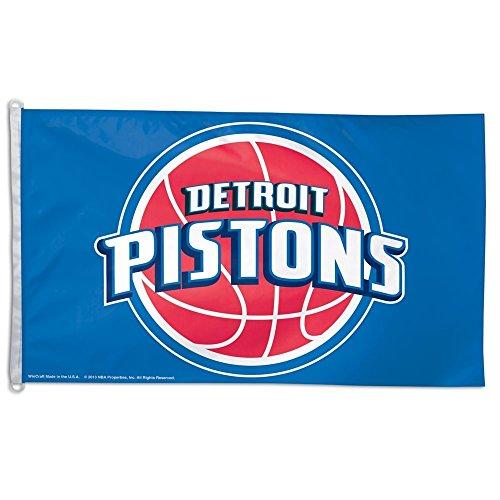 Detroit Pistons 3' x 5' Full-Size Flag, by Detroit Athletic Co