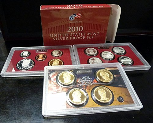 2010 S US Mint 14-coin Silver Proof Set Box & COA Proof ()