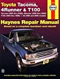 img - for Toyota Tacoma, 4 Runner & T100 Automotive Repair Manual. Models covered: 2WD and 4WD Toyota Tacoma (1995 thru 2000), 4 Runner (1996 thru 2000) and T100 (1993 thru 1998) by John H. Haynes, Robert Maddox, Mike Stubblefield (1/15/1999) book / textbook / text book