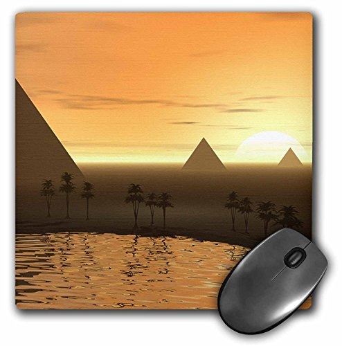 3dRose LLC 8 x 8 x 0.25 Inches The Giza Necropolis Sun Rises Over The Desert Sands Near Egyptian Pyramids at Giza Mouse Pad (mp_19938_1)