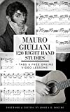 Mauro Giuliani 120 Right Hand Studies: + Tabs & Free Online Video Lessons