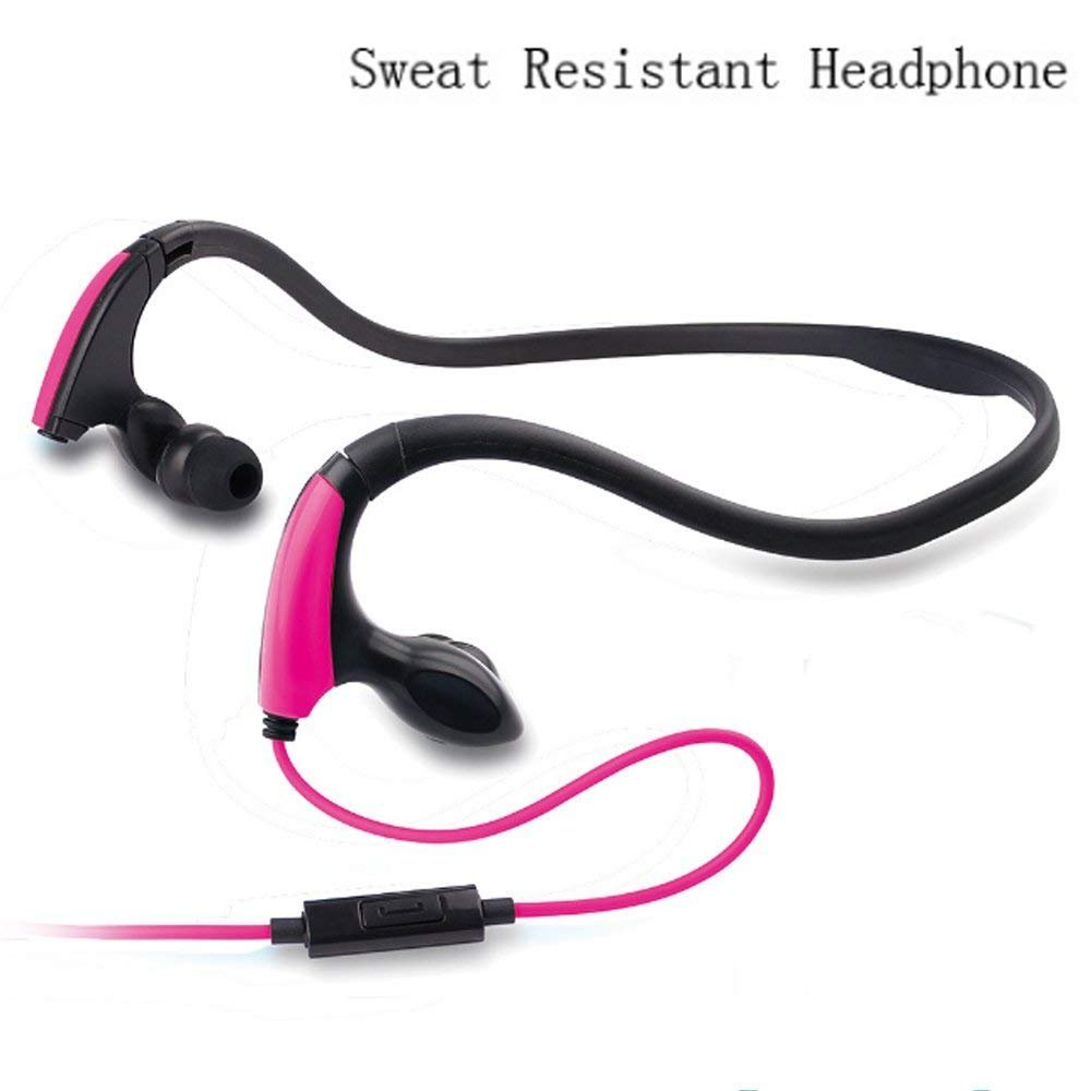 Headphones for iPhone,Businda In-Ear Headset Adjustable with Mic Sweatproof for iPhone 6/7 Plus iPad iPod Sumsang Tablet,Pink by Businda