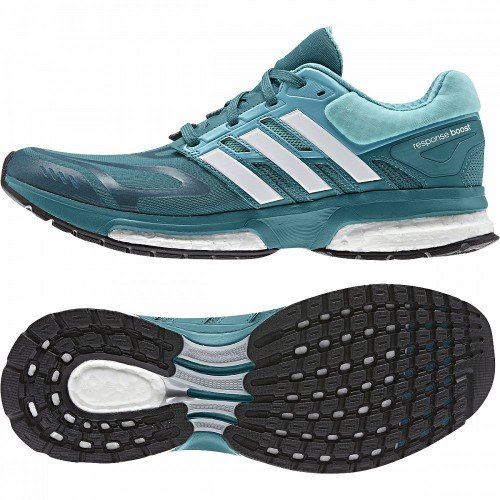 Adidas Response Boost Techfit Womens Chaussure De Course à Pied blue