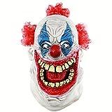 MICG Halloween Funny Scary Cosplay Evil Circus Clown Horror Demon Joker Mask (Big Mouth)