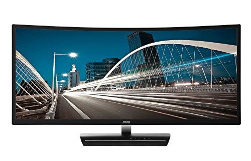 "AOC C3583FQ 35"" VA Curved LED Monitor 2560 x 1080 Res, 21:9,160hz, 300 cd/m2, 4ms,VGA/DVI/(2) HDMI/(2) DP, Spk"