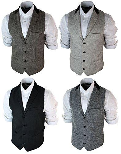 1e371df6538553 Herrenweste Braun Grau Schwarz Creme Tweed Fischgräte Vintage Eng:  Amazon.de: Bekleidung