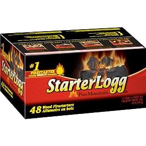 StarterLogg, 48-Count Firelogs, Fast Non-Fuss lighting, Quick Starting