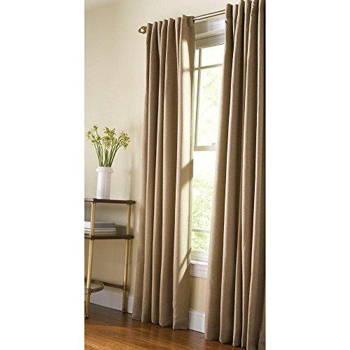 Tab Tweed (Monk Cloth Thermal Tweed Back Tab Curtain, 95 in. Length)