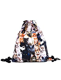Kitty Invasion All-Over-Print Shelfies Drawstring Bag