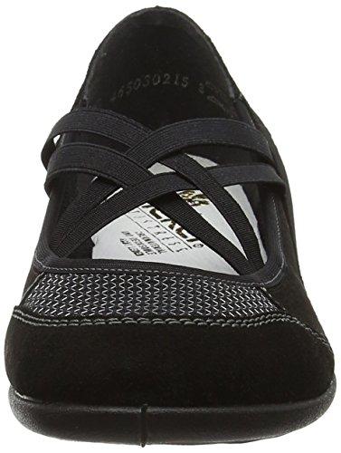 Rieker Women's 59585-00 Ballet Flats Black (00) ZBKKsd7CX