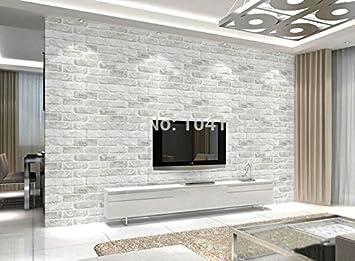 Buy Store2508TM Vintage Deep Embossed 3D Brick Pattern Wallpaper