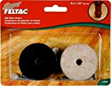 MADICO 23093 Super Feltac - 1.88 in. Round Heavy Duty Felt Pads - Pvc Reinforced - Beige - 5 Packs