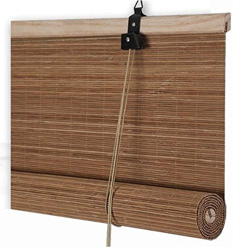 Bambú persiana Contacto protección de Ciegos Persianas Roll Up ...