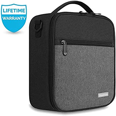 22bff5ae3ace6e Lunch Box with Padded Liner,Amersun Spacious Insulated Lunch Bag Durable  Thermal Lunch Cooler Pack