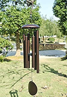 agirlgle large metal wind chimes outdoor tuned 36 garden wood wooden windchimes for patio - Garden Hanging Decorations