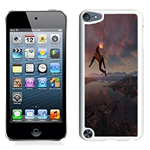NEW Unique Custom Designed iPod Touch 5 Phone Case With Infamous Second Son Smoke Ability City View_White Phone Case