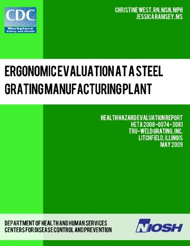 Read Online Ergonomic Evaluation at a Steel Grating Manufacturing Plant: Health Hazard Evaluation Report: HETA 2008-0074-3081 ebook