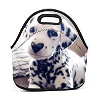 Adorable Puppy Insulated Neoprene Lunch Bag for Men Women and Kids - Reusable Soft Lunch Box for Work and School Water-Resistant 3D Printed
