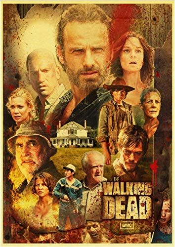 PWERWOTAM Vintage The Walking Dead Temporada 7 Retro Cartel ...