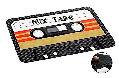 1082 - Cool Fun Mix Tape Cassette Player Retro Music Dance Hip Hop Rnb Boom Box Design Macbook PC Laptop Anti-slip Mousepad Mouse Mat Tpu Leather-Slim - Hiphop Retro