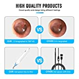 Wireless Ear Otoscope, Xiaomax WiFi Digital Ear Scope Inspection Ear Camera Endoscope Earwax Cleaning Ear Wax Remover Tool with 6 LED Lights for iPhone, iPad, Android Devices