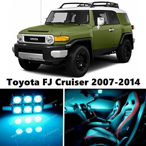 skylightauto 9pcs LED Premium ICE Blue Light Interior Package Deal for Toyota FJ Cruiser 2007-2014 ()