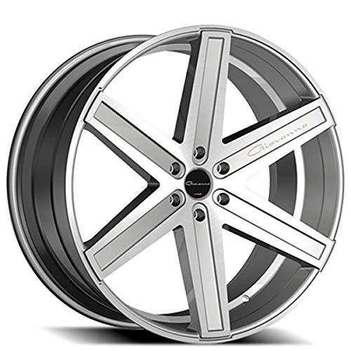 Giovanna Dramuno-6 - 26 Inch Rims - Set of 4 Silver Machined Wheels - Sports Racing Cars - Fits Challenger, Charger, Mustang, Camaro, Cadillac and More (26x10) - Rines Para Carros - Car Rim Wheel