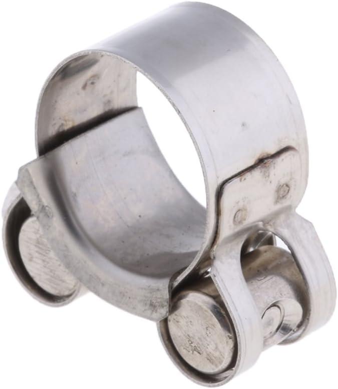 Baoblaze 1 Stück Abgasrohrschelle Edelstahl Gelenkbolzenschelle Auspuff Schelle Auspuffschelle Rohrschelle Für 26 28mm Motorrad Auto