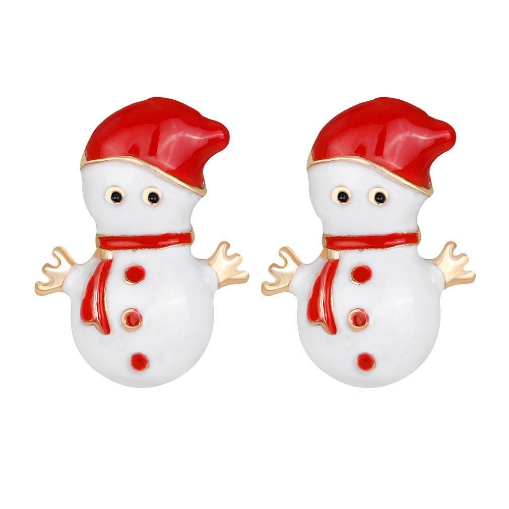 YAZILIND snowman shape earrings christmas winter cute studs