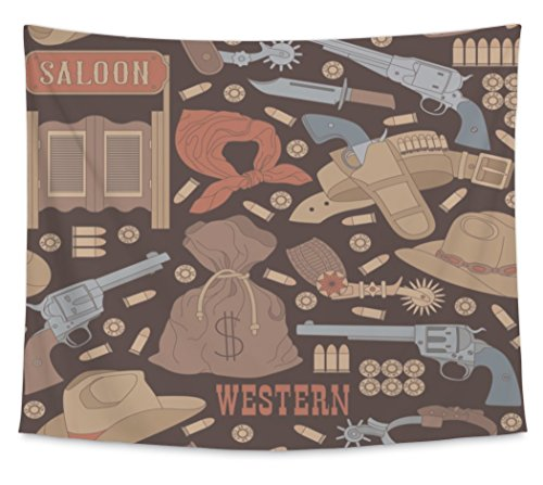 Gear New Wall Tapestry For Bedroom Hanging Art Decor College Dorm Bohemian, Western Pattern, Large, 104 inches wide by 88 inches tall