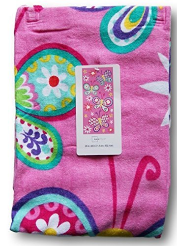 Pink Colorful Beach Towel for Girls - Butterfly Dream - 28'' x - Towel Beach Butterfly