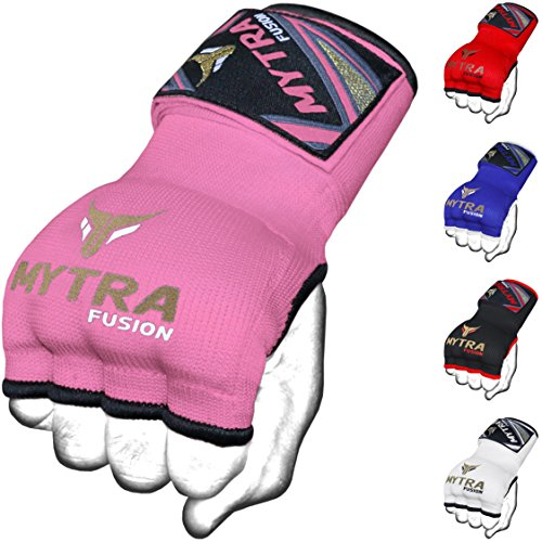 - Mytra Fusion Kids Hybrid Boxing Inner Gloves Punching Boxing MMA Muay Thai Gym Workout Gel Inner Gloves (Pink, Junior)