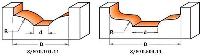 Fresa para puerta en mdf hw s 12 d 50x14x52 r 12 CMT Orange Tools 970.501.11