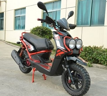 Brand New 150cc Boom Rugged 4 Stroke Moped Scooter - Air Cooled - Drive Belt Starter Electrical Starter By SaferWholesale
