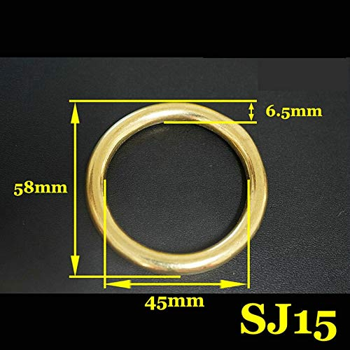 Ochoos 50PCS/LOT 45X58X6.5MM Brass Round O Ring Yellow Copper Forged and Seamless Hardware Accessories by Ochoos (Image #1)