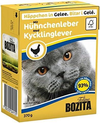 Comida para gatos Bozita en gelatina con hígado de pollo 370g ...