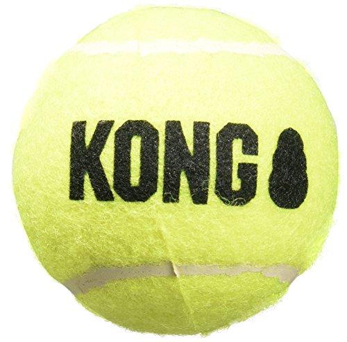 KONG Air Dog Squeakair Dog Toy Tennis Balls, Medium, (Pack of 3)