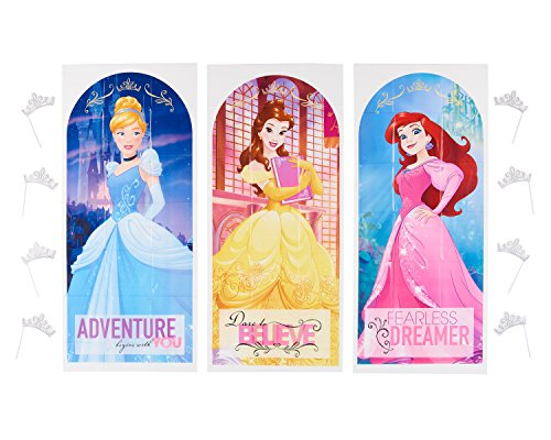 Disney Belle Cardboard Stand - American Greetings Disney Princess Backdrop & Props Photo Kit